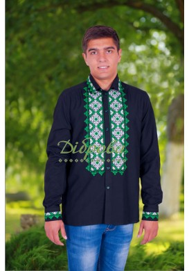 """MENS EMBROIDERY """"ZORA"""" GREEN EMBROIDERY"""