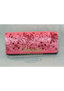 """EMBROIDERED BAG """"ROMANCE"""" RED"""